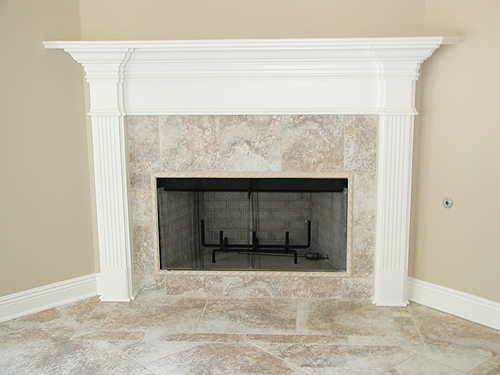 Fireplace designs are a specialty of custom home building for Ron Lee Homes
